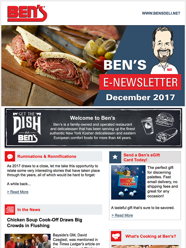 E-Newsletter Sample